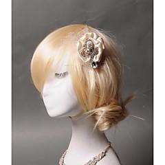 Femme Satin / Strass / Tulle Casque-Mariage / Occasion spéciale / Décontracté Pique cheveux 1 Pièce Clair Animal