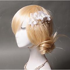 Femme Tulle / Imitation de perle / Tissu Casque-Mariage / Occasion spéciale / Décontracté Pique cheveux 1 Pièce Poire