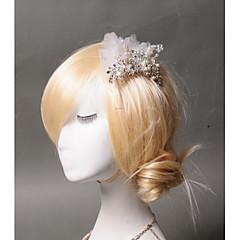 Femme Strass / Tulle / Imitation de perle Casque-Mariage / Occasion spéciale / Décontracté Peigne 1 Pièce Rond