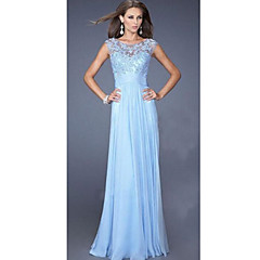 DUIQI  Women's Lace Blue / Pink Dresses , Vintage / Sexy / Party Round Sleeveless