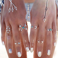 Women's Statement Rings Turquoise Fashion Personalized Turquoise Alloy Moon Anchor Jewelry For Party Daily Casual Beach