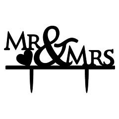 Decorações de Bolo Não-personalizado Monograma Acrilíco Casamento / Aniversário / Despedida de Solteira Preto Tema  Jardim / Tema Clássico