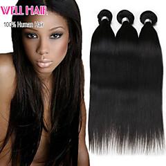 6a brasilianska jungfru hår 4 buntar rakt människohår jungfruliga brasilianska rakt hår