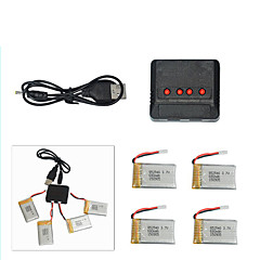 Sima X5C X5SCX5SW CX-30 Chengxing Four Axis Aircraft 680mAh 4 in 1 Charger and 4 Batteries