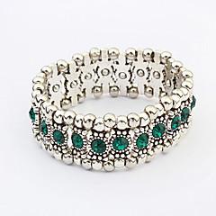 European Style Fashion Aegean Sea Multilayer Rhinestone Bracelet (Single Row)