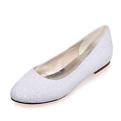 Women's Wedding Shoes Round Toe Flats Wedding / Party & Evening Black / Ivory / White