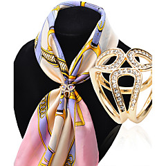 女性 ブローチ 模造ダイヤモンド 合金 ファッション シルバー ゴールデン ジュエリー 結婚式 パーティー 誕生日 日常 カジュアル
