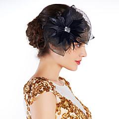 נשים נוצה ריינסטון רשת כיסוי ראש-אירוע מיוחד קישוטי שיער