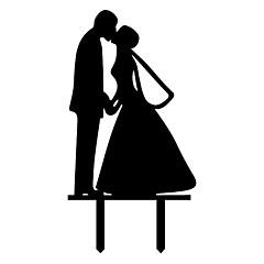 Decorações de Bolo Não-personalizado Casal Clássico Acrilíco Casamento / Aniversário / Despedida de Solteira Preto Tema Clássico 1 PPO