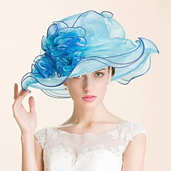 Women's Organza Headpiece-Wedding / Special Occasion / Casual / Outdoor Hats 1 Piece Head circumference  57cm