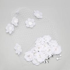 Femme Strass / Alliage / Imitation de perle Casque-Mariage / Occasion spéciale Coiffure 1 Pièce Blanc Rond