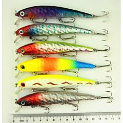 30 יח ' פיתיון קשה פתיונות דיג פיתיון קשיח Minnow מבחר צבעים g/אונקיה mm אינץ ',פלסטיק קשיחדיג בים הטלת פיתיון דייג במים מתוקים דיג