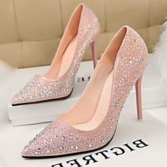 Women's Shoes Pumps Sweet Elegant Glitters Stiletto Heel Comfort / Pointed Toe Heels Office & Career / Dress