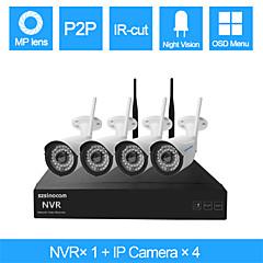 szsinocam® 4-kanals 960h wifi NVR 4stk 1.3MP vandtæt kamera sikkerhedssystem