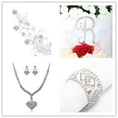 Wedding Suit(Headdress & Necklace & Earrings& Bracelet & Cake Topper)