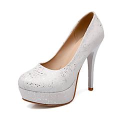 Women's Shoes Stiletto Heel Comfort / Round Toe Heels Wedding / Outdoor / Dress / Casual Yellow / Pink / White