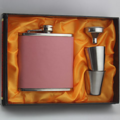Bride / Groom / Bridesmaid / Groomsman Gifts Piece/Set Hip Flasks Modern Congratulations Stainless Steel Non-personalized Hip FlasksPink