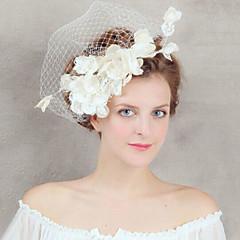 Femme Dentelle / Tulle Casque-Mariage / Occasion spéciale Peigne / Fleurs / Voile de cage à oiseaux / Pique cheveux 1 Pièce