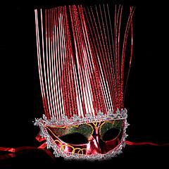 Maska / Maškarní Angel & Devil Festival/Svátek Halloweenské kostýmy Červená / Zlatá / Stříbrná Jednobarevné Maska Halloween / Karneval