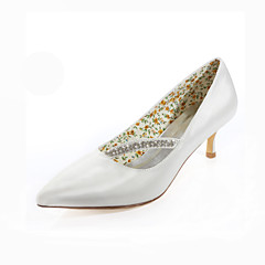 Women's Spring / Summer / Fall Heels / Pointed Toe Silk Wedding / Dress / Party & Evening Stiletto Heel CrystalBlack / Pink / Purple /