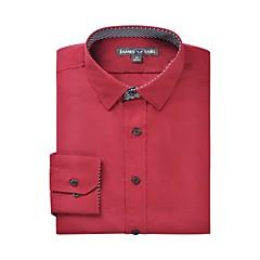 JamesEarl Heren Overhemdkraag Lange mouw Shirt & Blouse Bordeaux - DA112045383