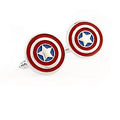 Captain America rustfrit stål manchetknapper firkantet vintage bryllupsgave graving mænds brudgom skjorte deluxe