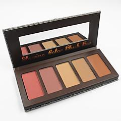 5 Colros Face Blush Palette Makeup Blusher Powder Kit Set Skin Finish Bronzer