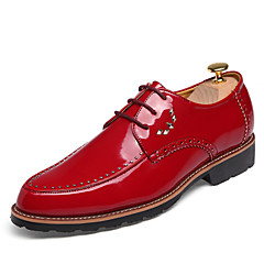 Men's Shoes Casual/Office/Wedding Fashion Leather Shoes Black/Red/Brown/Bule