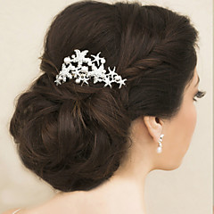 Femme / Jeune bouquetière Strass / Imitation de perle Casque-Mariage / Occasion spéciale Peigne 1 Pièce