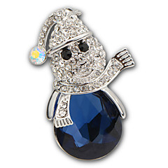 luksus diamant broche højde kvalitet blå krystal akryl rhinestone brocher pins bryllup smykker badges med pin x30005