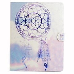Purple Wind Chimes Coloured Drawing or Pattern PU Leather Folio Case Tablet Holster for iPad (2017) Pro10.5 Pro9.7 iPad Air Air2 iPad234 mini 1234