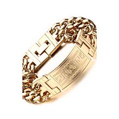 Pánské Řetězové & Ploché Náramky bižuterie Nerez Pozlacené Šperky Pro Párty Denní Ležérní Sport