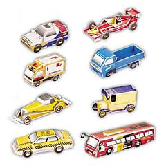 ジグソーパズル 3Dパズル ペーパーモデル ビルディングブロック DIYのおもちゃ 車載 8 ペーパー シルバー ブラウン 白 プラモデル&組み立ておもちゃ