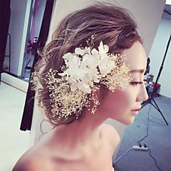 Femme / Jeune bouquetière Dentelle / Tulle Casque-Mariage / Occasion spéciale Fleurs 1 Pièce