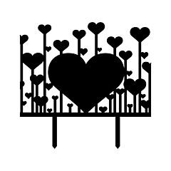 Decorações de Bolo Não-personalizado Corações Resina Casamento / Aniversário / Despedida de Solteira Branco / PretoTema Asiático / Tema