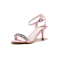 Women's Shoes Customized Materials Stiletto Heel Heels Sandals Wedding / Office & Career / Party  Evening /  Pink