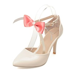 Women's Shoes Leatherette Stiletto Heel Heels Heels Wedding / Office & Career / Party & Evening Green / Pink