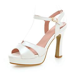 Women's Shoes Chunky Heel Heels / Peep Toe / Platform Sandals Wedding / Party & Evening  / Pink / White / Almond