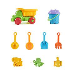 9-Stücke Strand Sandspielzeug mit LKW, Eimer, Schaufel Sand, Sand Trichter, Sand Löffel, Sand harken und 3-Modelle setzen