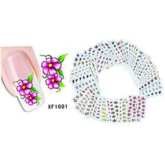 Autocolantes de Unhas 3D - Flôr - para Dedo - de Outro - com 50PCS - 15cm x 10cm x 5cm (5.91in x 3.94in x 1.97in)