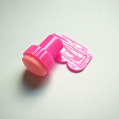 pink nail art ražení Stampe nářadí s převodem 1ks šablona deska škrabka škrábání knifer nástroje