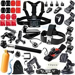 Gopro Accessories Chest Harness / Front Mounting / Universal Adaptor / Monopod / Tripod / Suction Cup / Clip / Accessory KitWaterproof /
