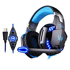 KOTION EACH G2200 Gaming Headphone USB 7.1 Surround Stereo Headset Vibration System Rotatable Mic LED
