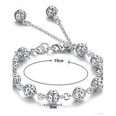 Damen Ketten- & Glieder-Armbänder Bettelarmbänder Sterling Silber Weiß Schmuck Für Hochzeit Party Alltag Normal Weihnachts Geschenke1