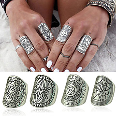 Women's / Men's Alloy Ring Non Stone Alloy 4 Pieces