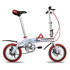 Folding bicikle Biciklizam 14 inča 44mm YINXING Dvostruka disk kočnica Običan Okvir od aluminijske legure Sklapanje DEQUILONAluminijska