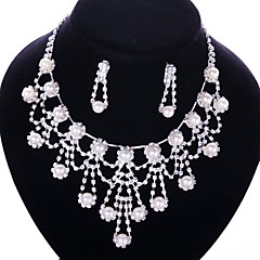 Elegant Alloy With Rhinestone Ladies' Jewelry Sets