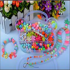 un paquet acrylique perles enfants perles matériel à la main