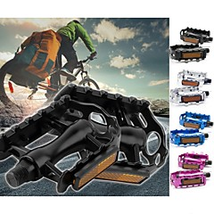 1Pair Mountain Road Bicycle Pedals Flat Aluminum Alloy Pedals Platform with Gearwheel Bike Cycling Accessories