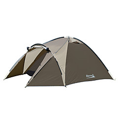 Makino 3-4 persons Tent Triple Family Camping Tents One Room Camping Tent 1000-1500 mm Aluminium Polyester OxfordBreathability Quick Dry
